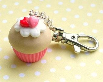 Cute Cupcake - Keyring