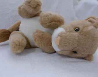 """14"""" Lion Cub FAO Schwarz Fifth Avenue Great Condition Vintage soft & cuddly CLEAN stuffed animal plush Wild baby toy doll Easter Christmas"""