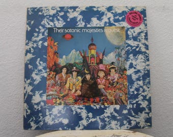 "The Rolling Stones - ""Their Satanic Majesties Request"" vinyl record, White Color Vinyl, Netherland Pressing"