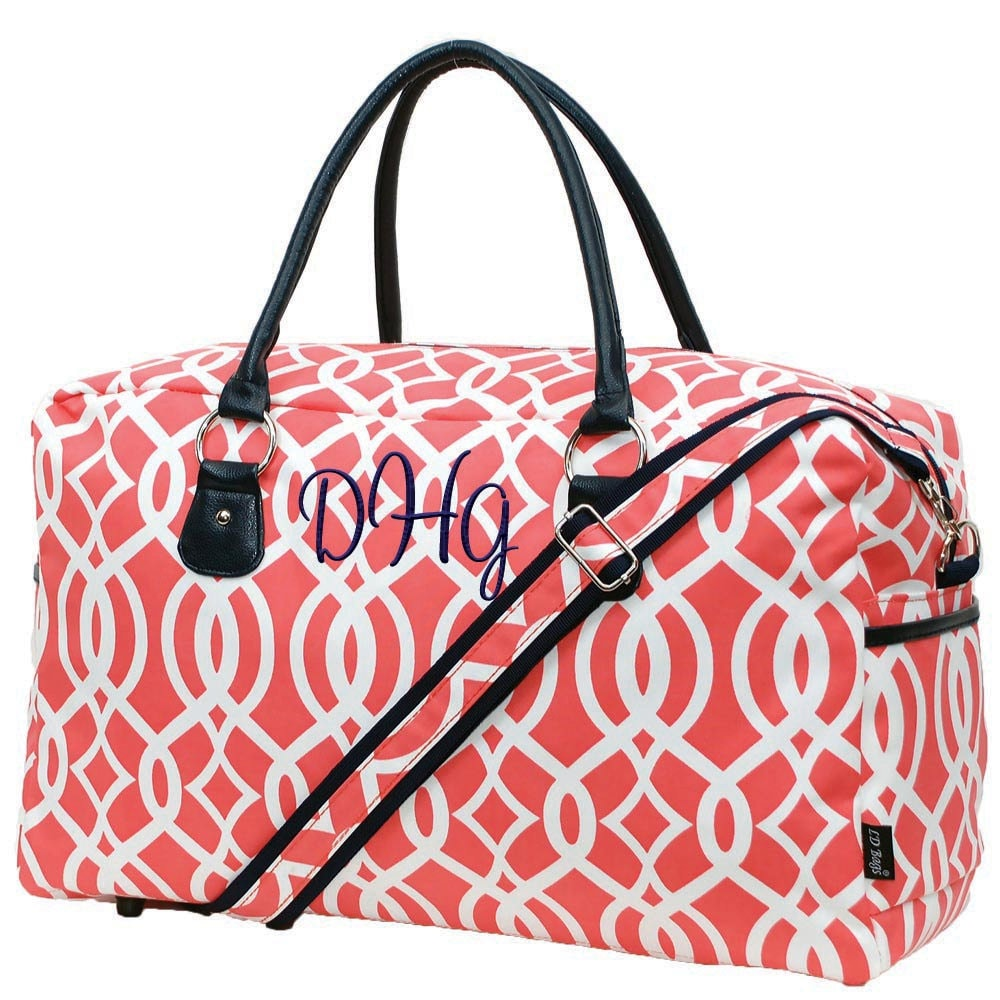 Monogram weekender bag personalized overnight