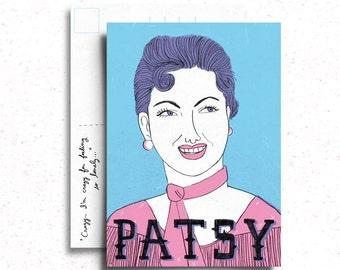 Patsy Cline Postcard/Mini Print
