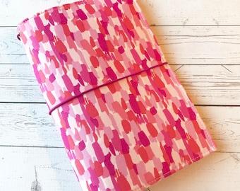 Ex- Wide/ May Designs Fabric Fauxdori -Fabric Travelers Notebook - Regular Size - Fauxdori