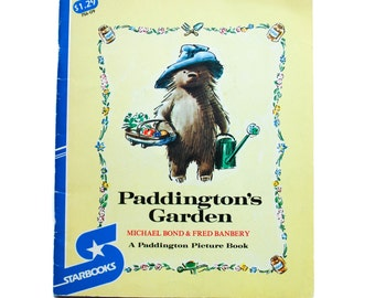 Paddington's Garden by Michael Bong & Fred Banbery, 1980, Vintage Children's Book, Old Book, Children's library, paperback