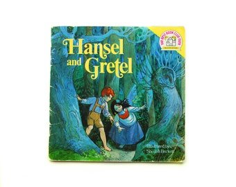 Hansel and Gretel illustrated by Sheilah Beckett Retold by Linda Hayward, 1974, Vintage Children's Book, Children's Classic