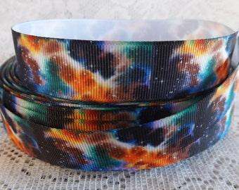 Planet ribbon galaxy grosgrain ribbon 7/8 Grosgrain universe ribbon space ribbon