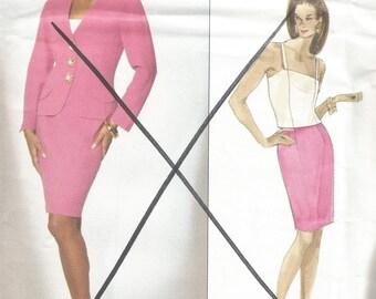 Vogue Designer Original Sewing Pattern 2892 GENNY Jacket, Camisole and Skirt, Size 8-10-12, Uncut