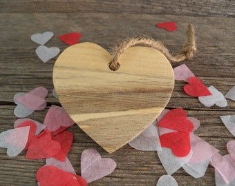 Wooden Valentine Heart Ornament. Rustic Valentine Ornament. Valentine's Day Gift. Rustic Heart made from Pine. Valentine Heart.