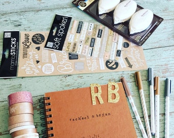 Hand-Stamped Custom Photo Guestbook Kit