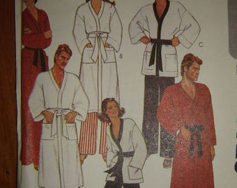 Spring is here! McCall's 7729; 1981; Misses' and Men's Robe or Jacket and Pants-Size Medium- FACTORY FOLDED