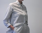 Night shirt and short   Light grey stripes