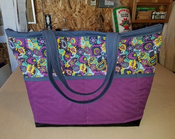 Large Travel Tote - Purple