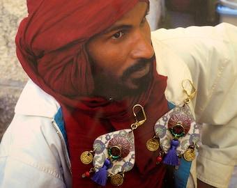 Earrings Bohemian - hippie chic - earrings nomadic folk - Gypsy - East - earrings tassels earrings ethnic - gypsy