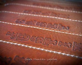 Leather Customizable Rifle Sling Handmade with name or initials.