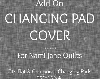 Custom Changing Pad Cover ADD ON, Baby Changing Pad Cover Addition to Quilt Order from Nami Jane