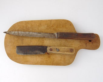 Old Knife Collection - Wooden Handles and Metal Blades