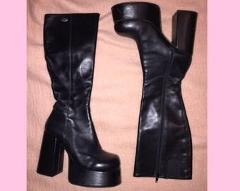 BUFFALO EU 37.5 90s platform goth club kid boots