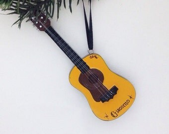 FREE SHIPPING Guitar Personalized Christmas Ornament - Guitar Ornament - Music Ornament - Personalized Ornament