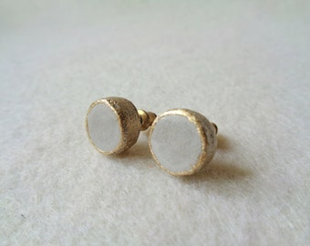 Concrete Stud Earrings,