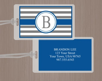 Luggage Tag, Personalized Luggage Tag, Masculine Luggage Tag, Briefcase Tag, Men's luggage tag, Men's Bag Tag, Cruise, Travel, Vacation,