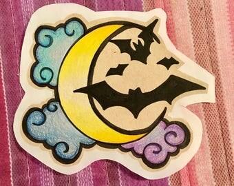 Hand Drawn OOAK Moon Sticker