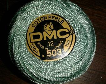 DMC 12 green cotton thread Coton Perle Color 503