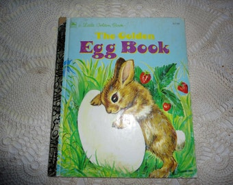 The Golden Egg Book By Margaret Wise Brown A Little Golden Book Pictures By Lilian Obligado Vintage Children's Easter