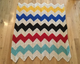 Crocheted small afghan