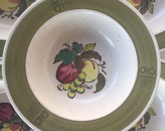 Vintage Metlox Poppy Trail dishes Provincial Fruit Bowl Poppytrail Vernon Dessert / Sauce bowl Mid century dinnerware California pottery USA