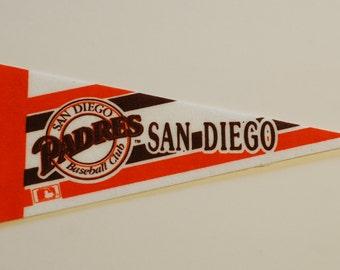 San Diego Padres Vintage Pennant