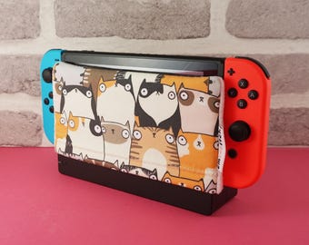 PREORDER: Ships July 5th *** Nintendo Switch Protective Dock Cover - Variety of illustrated pattern designs to choose from!