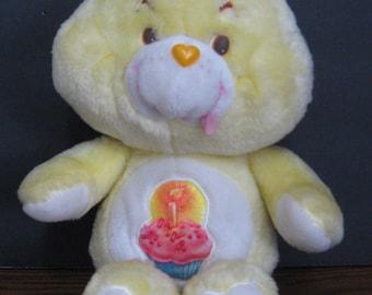 "Care Bears Birthday Bear 1983 Vintage 12"" Plush - Kenner"
