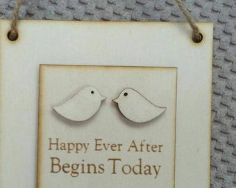 Happily Ever After Wooden plaque