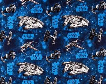 Star Wars Crib Sheet - Blue - Baby Bedding - Black