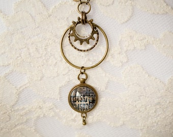 Industrial Steampunk Charm Necklace