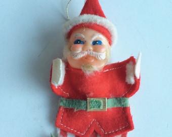Vintage Christmas Santa Ornament