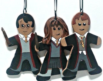 Harry Potter  polymer clay gingerbread ornaments