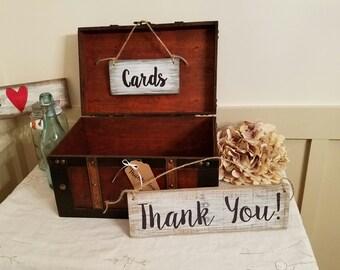Rustic Wedding Card Box - Keepsake Card Box - Wedding Box - Gift - Bridal Shower Gift - Rustic Home Decor - Thank You Sign - Bride Gift