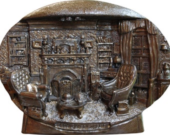 Sherlock Holmes Study Bronze Finsih - Modelled Exactly like the actual Room