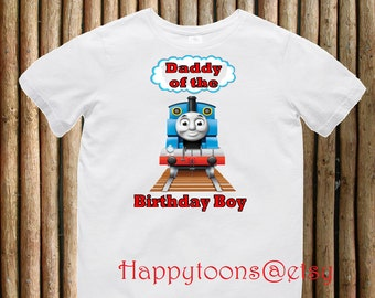 Daddy of the birthday - train T-shirt, train birthday