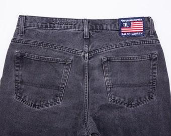 90's Polo Ralph Lauren Black Denim Jeans