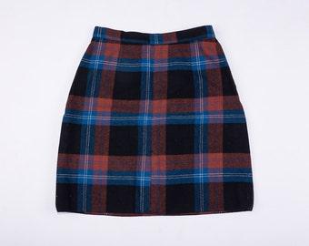 50's Pendelton Wool Plaid Skirt