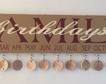 Family Birthday Sign - Complete with Discs | Country | Primitive | Rustic |