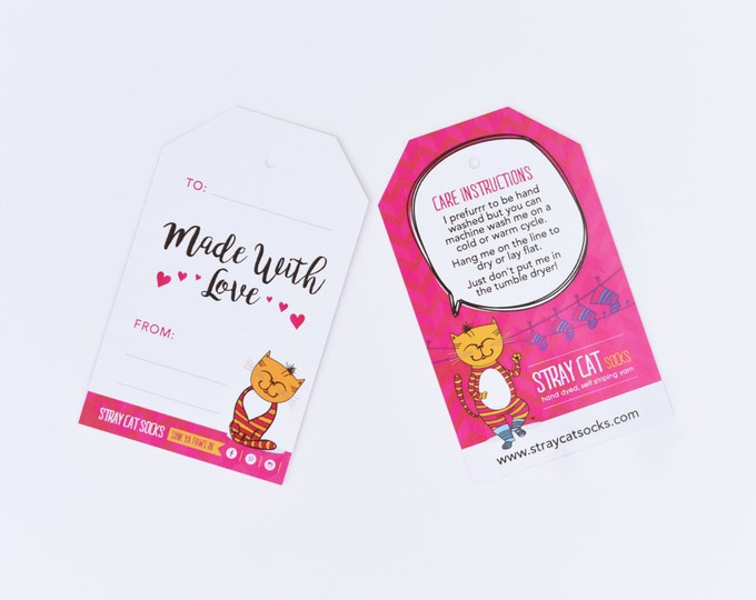 Stray Cat Gift Tag X 3