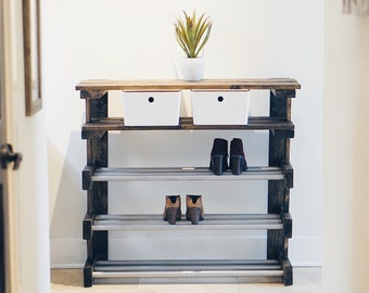 Shoe Rack/ Entryway Console Table/ Organizer