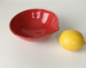 Small Red Batter Bowl