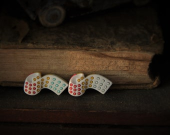 Candy Button Stud Earrings!