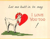 Valentine card comic goat     about 1920