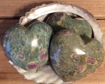 Ruby Fuschite Gemstone Heart, 45mm, Healing Stone, Healing Crystal, Chakra  Stone, Spiritual Stone