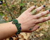 Green Macrame Bracelet, M...