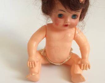Blue Box Vintage 1950's-60's Doll